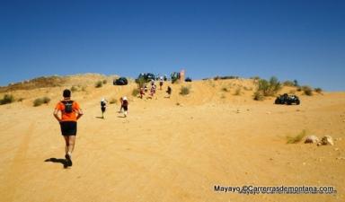 Ultra trail 100kms del Sahara: Dunas en Ksar el Ghilane.