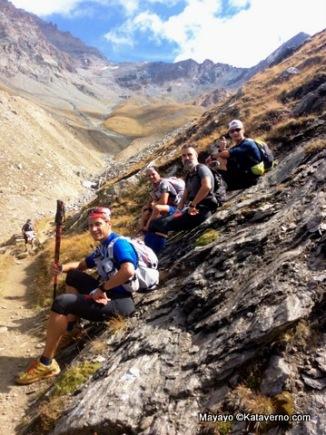 Los Quijotes Transalpinos, remontando los 3.300m del Col Loson.