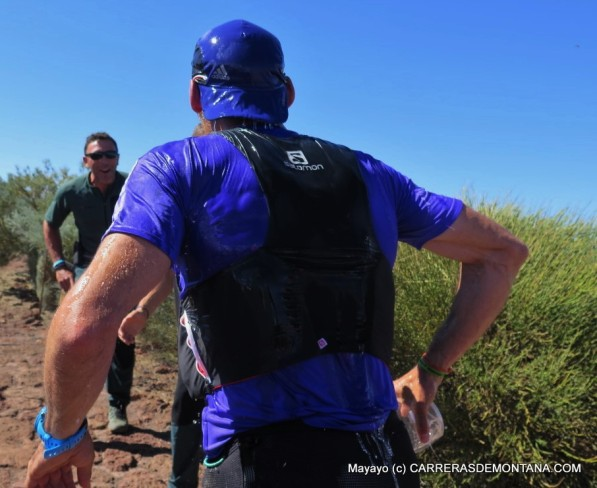 Luis Alberto Hernando se lanza al descenso del Roque, donde brilló sobre sus rivales.